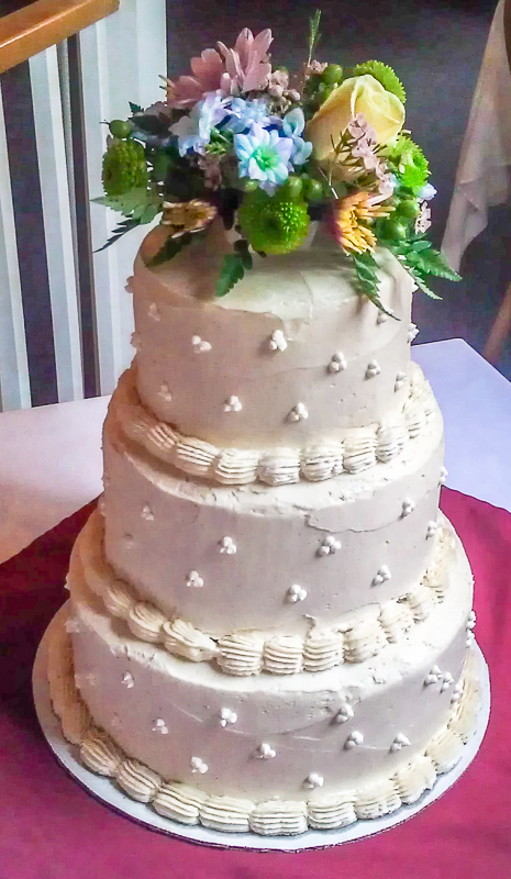 Gluten Free Carrot Wedding Cake